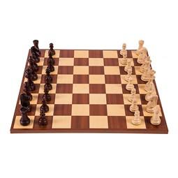 Schachbrett  /& Schachfiguren aus Holz EUROPA 6 SQUARE Pro Schach Set Nr